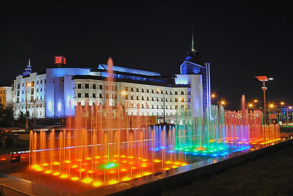 Казань поющие фонтаны